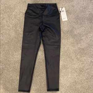 7/8 high waist airbrush leggings - glossy black